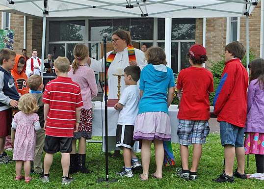 children's sermon outdoors