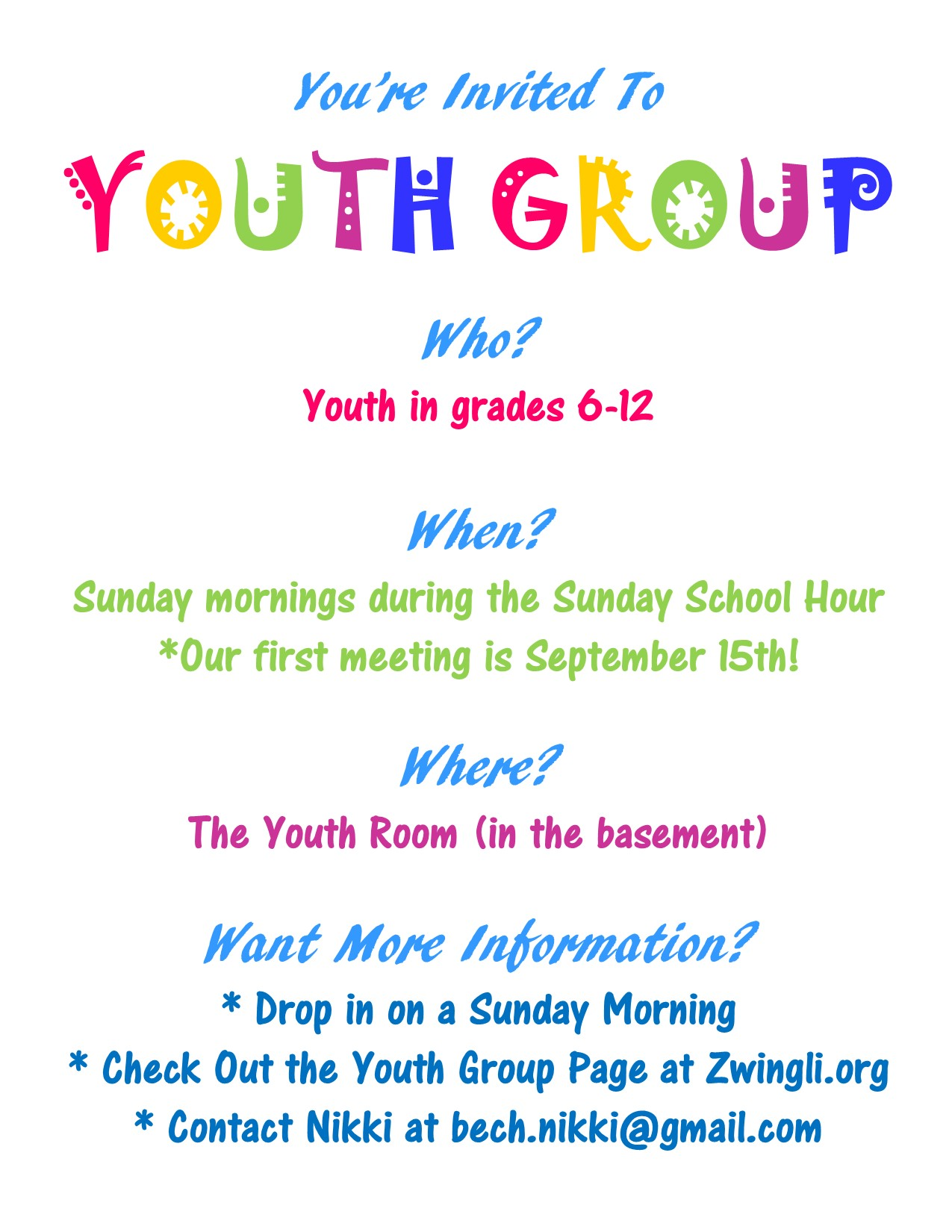 Youth Group Invite